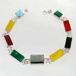 دستبند چند جواهر زنانه سلجوقی مستطیلی _کد:11934