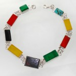 دستبند چند جواهر زنانه سلجوقی مستطیلی _کد:11939