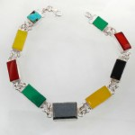 دستبند چند جواهر زنانه سلجوقی مستطیلی _کد:11946