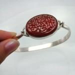 دستبند عقیق قرمز با حکاکی یا ابا صالح المهدی _کد:12095