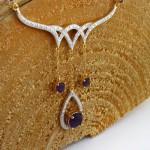 سینه ریز آمتیست و الماس زنانه مانی ایتالیایی مدل آرا _کد:12103