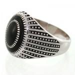 انگشتر نقره مردانه مینا کاری طرح جوانان _کد:12634