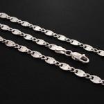 زنجیر نقره ایتالیایی درشت و سنگین رودیوم سلطنتی 50 سانتی _کد:12708