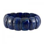 دستبند لاجورد عالی و درشت سنگ درمانی تقویت اعصاب _کد:12755