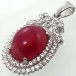 گردنبند یاقوت سرخ زنانه درشت