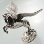 متفرقه نقره مجسمه اسب بالدار