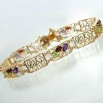دستبند چند جواهر زنانه مستطیلی جدید