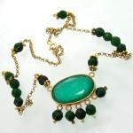 سینه ریز جید سبز زنانه طرح زیر خاکی درشت طاووسی