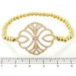 دستبند نقره زنانه گلدن