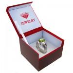 جعبه جواهر چوبی طرح الماس انگشتری
