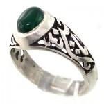 انگشتر عقیق سبز مردانه کلاسیک یا حسین