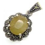 گردنبند یاقوت زرد زنانه مارکازیت هانگ _کد:8801