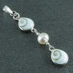گردنبند چند جواهر صدف (مهره مار) و مروارید زنانه مدل فانتزی _کد:9115
