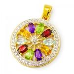 گردنبند چند جواهر زنانه مانی ایتالیایی مدل غوغا _کد:9298