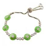 دستبند یشم عالی زنانه رودیوم لوکس _کد:9353