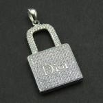 گردنبند نقره میکروستینگ درجه یک زنانه Dior مدل قفل _کد:9541