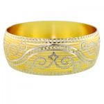 النگو زنانه آب طلا درجه یک مدل تکپوش سایز 2 _کد:9677