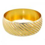 النگو زنانه آب طلا درجه یک مدل تکپوش سایز 4 _کد:9688