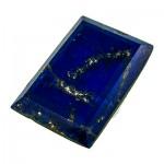 نگین لاجورد درشت مستطیلی مناسب سنگ درمانی _کد:9788