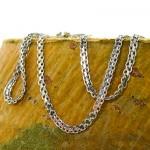 زنجیر نقره زنانه ایتالیایی مدل حلقه ای 45 سانتی _کد:9819