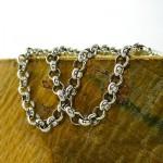 زنجیر نقره زنانه ایتالیایی درشت و چشمگیر 40 سانتی _کد:9828