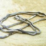 زنجیر نقره زنانه ایتالیایی ضخیم ونیزی 45 سانتی _کد:9842