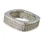 انگشتر نقره زنانه سوارسکی برلیانی _کد:9885
