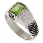 انگشتر زبرجد مستطیلی مردانه کلاسیک _کد:10539