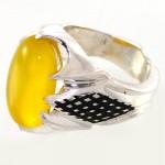 انگشتر عقیق شرف الشمس مردانه درشت سوهانی شکیل _کد:10599