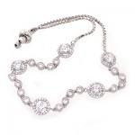 دستبند نقره زنانه مدل آذین مجلسی _کد:10717