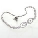 دستبند نقره زنانه جواهرکاری مدل پاپیون _کد:10723