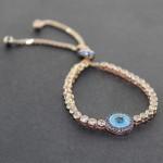 دستبند نقره نگین سوارسکی زنانه درخشان باشکوه _کد:10727