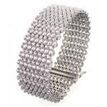 دستبند نقره زنانه فوق العاده باشکوه و سنگین _کد:1514