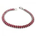 دستبند یاقوت سرخ زنانه شیک و مجلسی _کد:1553