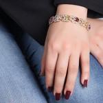 دستبند چند جواهر  زنانه مانی ایتالیایی _کد:1597