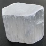 سنگ سلنیت سفید یخی زیبای سنگ درمانی _کد:11266