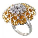 انگشتر نقره زنانه درشت مدل عروس دریایی _کد:11384