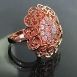 انگشتر نقره زنانه درشت مدل عروس دریایی _کد:11418