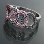 انگشتر نقره زنانه مدل المپیک _کد:11419