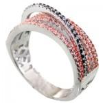 انگشتر نقره زنانه مدل عروس _کد:11428