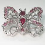گردنبند یاقوت سرخ خوشرنگ مدل پروانه