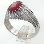 انگشتر یاقوت سرخ کلاسیک دور چنگ _کد:11720
