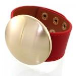 زیورآلات کادویی دستبند چرمی زنانه مدل دیسکو اسپرت _کد:11752