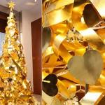 درخت کریسمس سال نو میلادی از جنس طلا