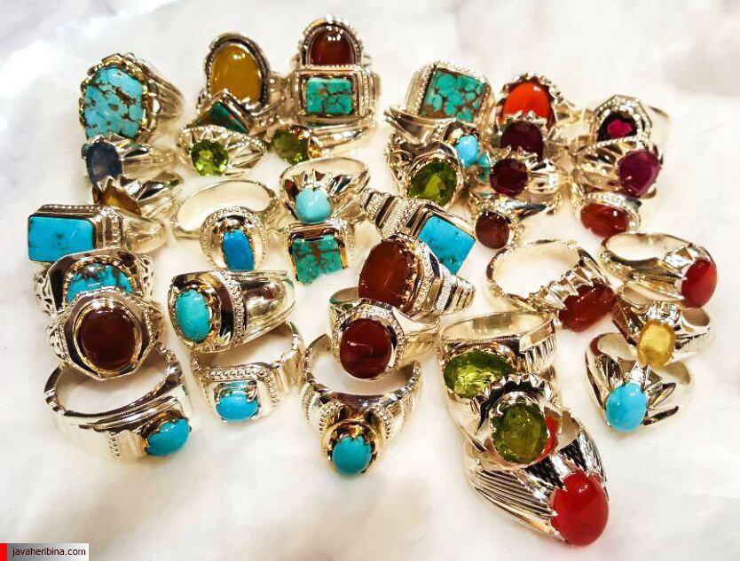 نمونه ای از انگشترهای ساخته شده توسط جواهری بینا برای همکاران
