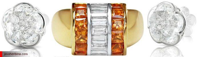استفاده از سنگ های جواهر رنگی قیمتی در انگشتر