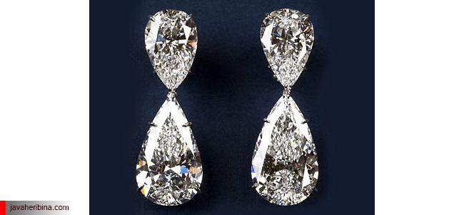 گوشواره الماس Harry Winston