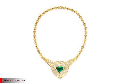 گردنبند الماس و زمرد
