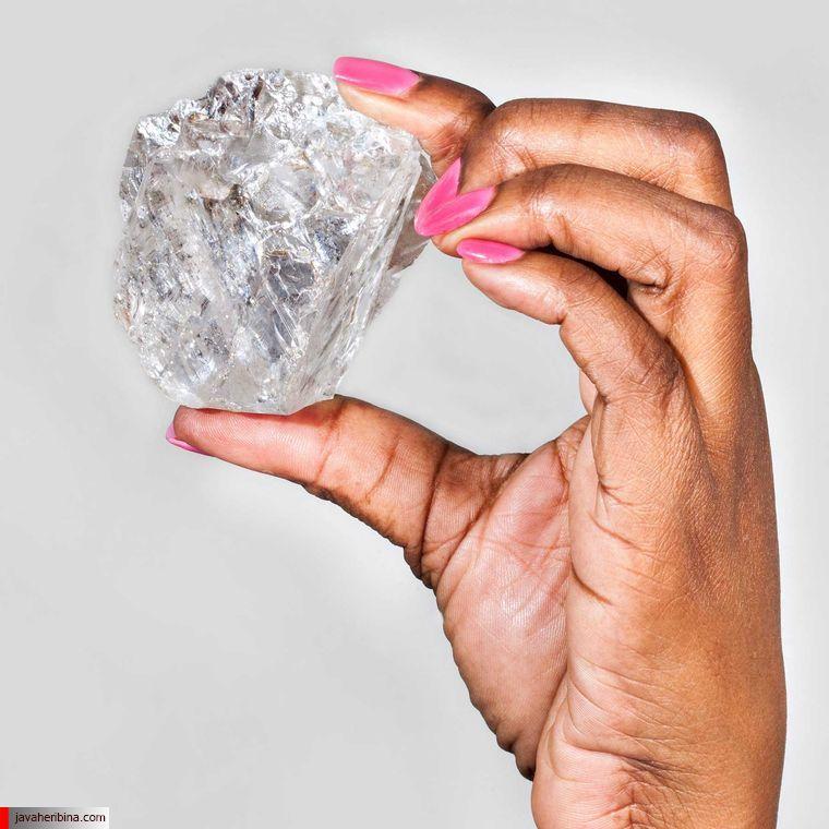 الماس خام 1111 قیراطی Karowe AK6