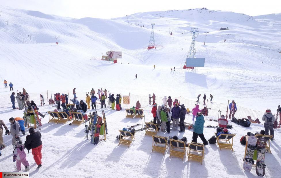 General view shows the Dizin ski resort, northwest of Tehran